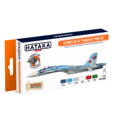 "HTK-CS83 Ultimate Su-33 ""Flanker-D"" paint set (6 x 17 ml) - ORANGE LINE – AIRBRUSH DEDICATED"