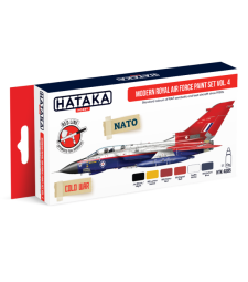 HTK-AS85 Modern Royal Air Force paint set vol. 4 (6 x 17 ml) - RED LINE - AIRBRUSH DEDICATED