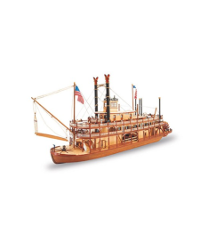 1:80 King of the Mississippi II Steamboat - Wooden Model Ship Kit