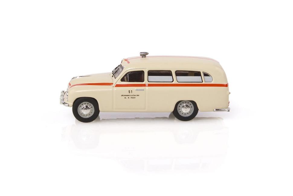 Funeral Car 1:43 Model ABREX Skoda 1201 1956 Pompe Funebri