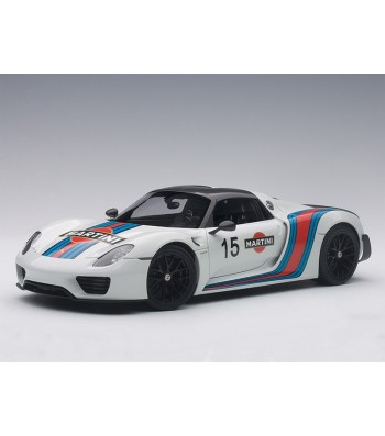 PORSCHE 918 SPYDER WEISSACH PACKAGE (WHITE/MARTINI LIVERY) 2013 (COMPOSITE MODEL/FULL OPENINGS)