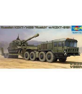 1:35 Russian KZKT-7428 Transporter with KZKT-9101 Semi-Trailer