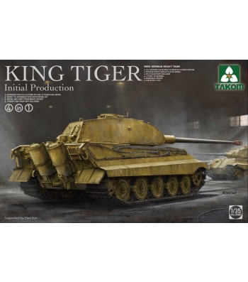 1:35 WWII German heavy tank King Tiger initial production 4 in 1