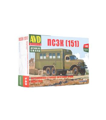 Blood transfusion truck PSZK (ZIS-151) - Die-cast Model Kit