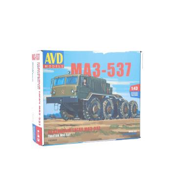 MAZ-537 Soviet military heavy tractor truck - Die-cast Model Kit