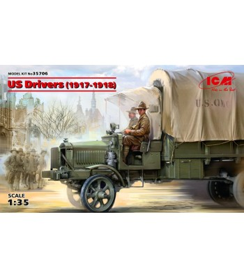 1:35 US Drivers (1917-1918) (2 figures) (100% new molds)