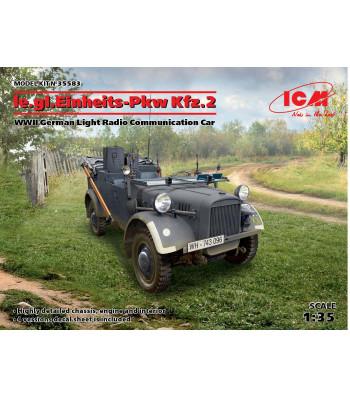 1:35 le.gl.Einheitz-Pkw Kfz.2, WWII German Light Radio Communication Car
