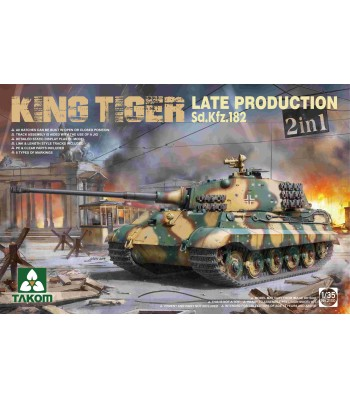 1:35 WWII German Heavy Tank Sd.Kfz.182 King Tiger  Late Production 2 in 1 (without interior)