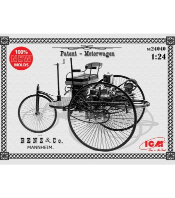 1:24 Benz Patent-Motorwagen 1886 (100% new molds)