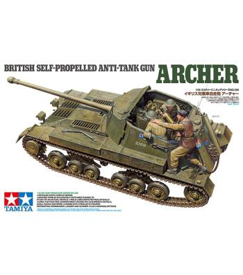 1:35 British Anti Tank Gun Archer - Self Propelled - 3 figures