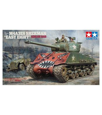 "1:35 U.S. Medium Tank M4A3E8 Sherman ""Easy Eight"" Korean War - 2 models and 2 figures"