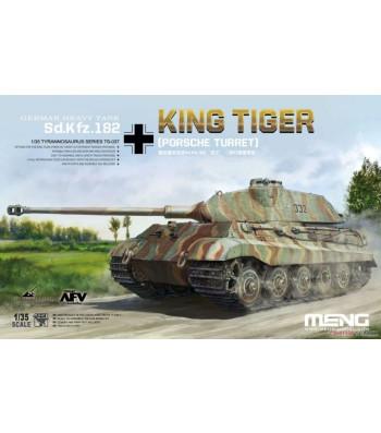 1:35 German Heavy Tank Sonderkraftfahrzeug 182 King Tiger (Porsche Turret) with bonus map