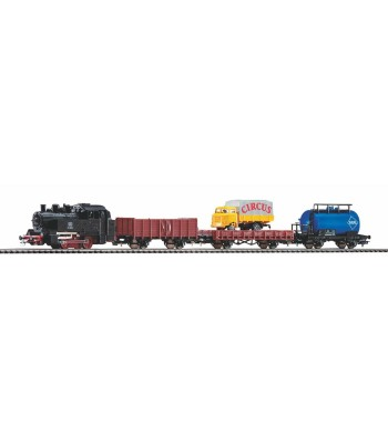 Starter Set Freight Train DB, PIKO A-track w. Railbed