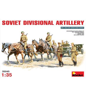 1:35 Soviet  Divisional Artillery - 13 figures