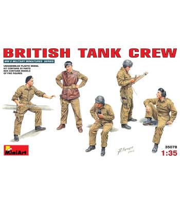 1:35 British Tank Crew - 5 figures