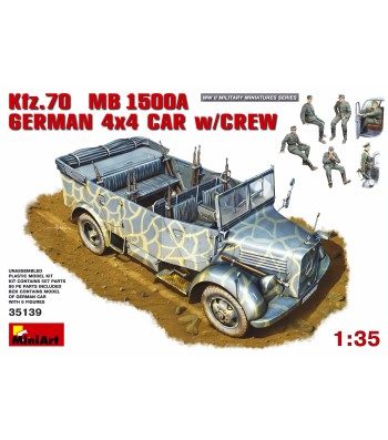 1:35 Kfz.70 (MB 1500A) German 4x4 Car w/Crew