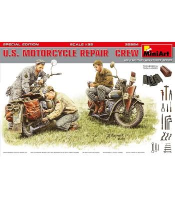 1:35 U.S. Motorcycle Repair Crew. Special Edition - 3 figures
