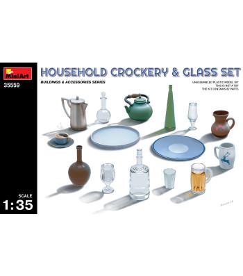 1:35 Household Crockery & Glass Set