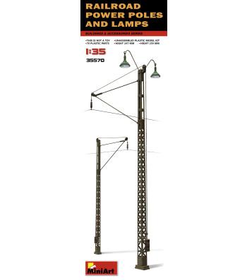 1:35 Railroad Power Poles & Lamps