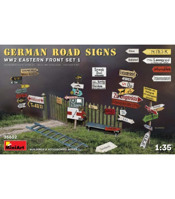 1:35 German Road Signs WW2 (Eastern Front Set 1)