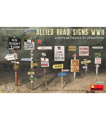 1:35 Allied Road SignsWWII. European Theatre of Oper.