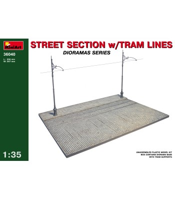 1:35 Street section with tram line