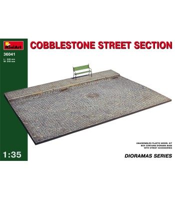 1:35 Cobblestone street section