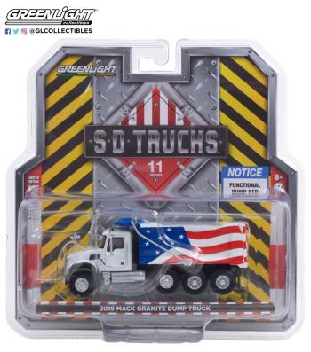 S.D. Trucks Series 11 - 2019 Mack Granite Dump Truck - Red, White and Blue Solid Pack