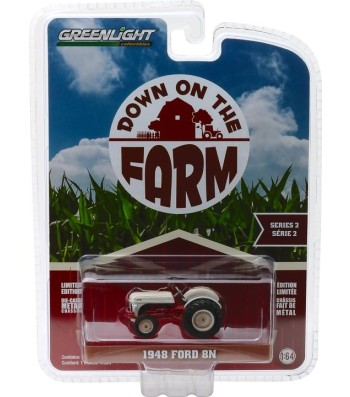 "1948 Ford 8N Tractor - White and Red ""Weathered"" Solid Pack - Down on the Farm Series 2"