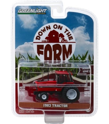 1982 Tractor - Red and Black with Dual Rear Wheels Solid Pack - Down on the Farm Series 2