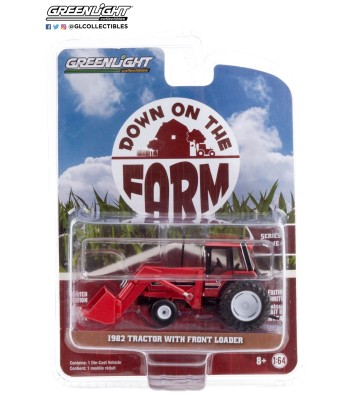 Down on the Farm Series 4 - 1982 Tractor - Red and Black with Front Loader and Dual Rear Wheels Solid Pack