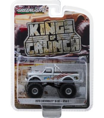 USA-1 - 1970 Chevrolet K-10 Monster Truck Solid Pack - Kings of Crunch Series 1