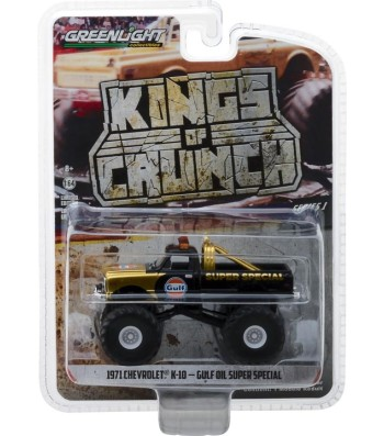 Gulf Oil Super Special - 1971 Chevrolet K-10 Monster Truck Solid Pack - Kings of Crunch Series 1