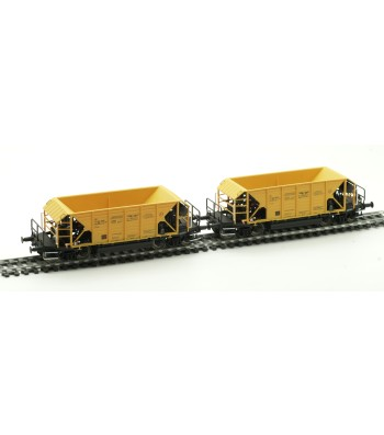 Bulgarian BG-NRIC hopper car set, Faccpp, epoch VI