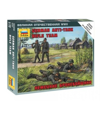 1:72 German Anti Tank Rifle Team - snap-fit