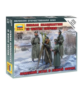1:72 GERMAN HQ WINTER - 4 figures