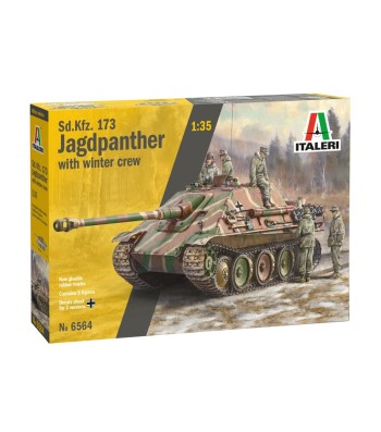 1:35 Sd.Kfz.173 JAGDPANTHER with crew - 5 figures