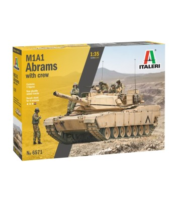 1:35 M1A2 ABRAMS with crew - 5 figures