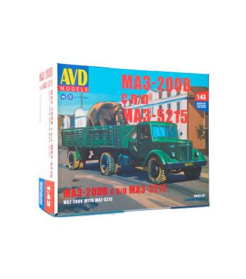 MAZ-200V tractor truck with MAZ-5215 semitrailer - Die-cast Model Kit