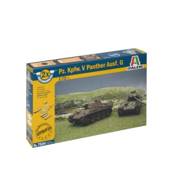1:72 Pz.Kpfw.V PANTHER, set of 2 models - fast assembly