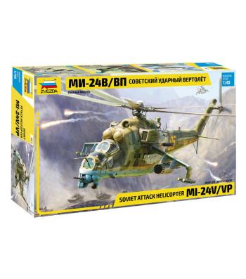 1:48 Soviet attack helicopter MI-24V/VP