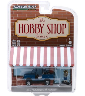 1967 Ford Bronco (Doors Removed) with Backpacker Solid Pack - The Hobby Shop Series 6