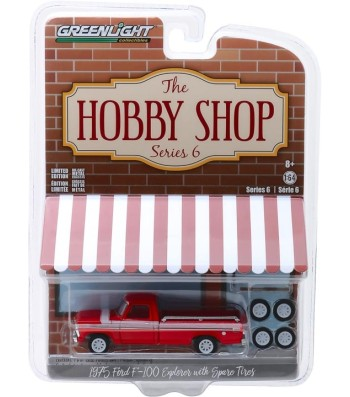 1975 Ford F-100 Explorer with Spare Tires Solid Pack - The Hobby Shop Series 6
