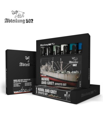 ABT306 NAVAL AND GREY EFFECTS SET - 6 x 20 ml - Abteilung 502 Oil paint