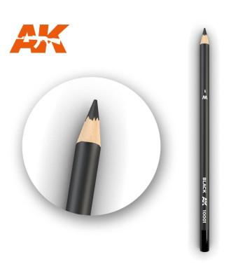 AK10001 Watercolor Pencil Black (1 piece )