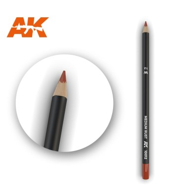 AK10012 Watercolor Pencil Medium Rust (1 piece )