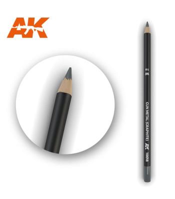 AK10018 Watercolor Pencil Gun Metal (Graphite) (1 piece )