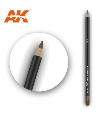 AK10028 Watercolor Pencil Earth Brown (1 piece )