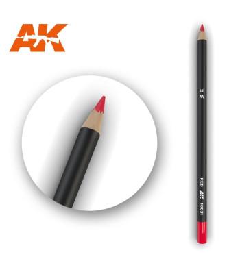 AK10031 Watercolor Pencil Red (1 piece )
