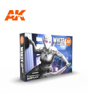 AK11609 WHITE COLORS SET - (6 x 17 ml) - 3rd Generation Acrylic